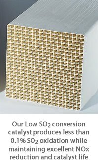 Low SO2 Conversion SCR Catalyst