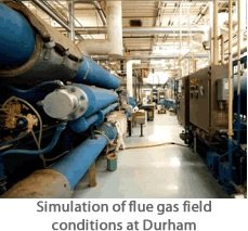 Simulation of flue gas field conditions at Durham